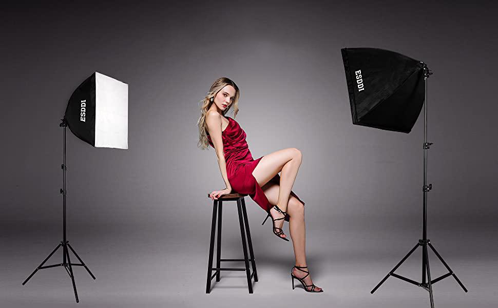 modele feminin eclairee par deux softbox esddi